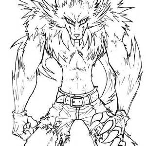 Sketches Of Werewolves Coloring Pages