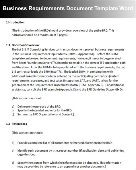 business requirements template word 11 business requirements documents free pdf excel templates