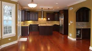 Kitchen Color Ideas With Dark Cabinets by Dark Wood Kitchens Cherry Color Traditional Kitchen