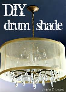 diy chandelier drum shade dimples and tangles diy drum shade tutorial