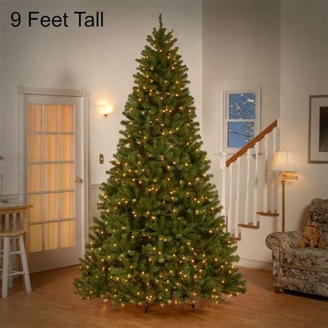 black friday artificial 9 ft christmas tree sales 9 ft pre lit tree 700 clear lights decor valley spruce trees decor and