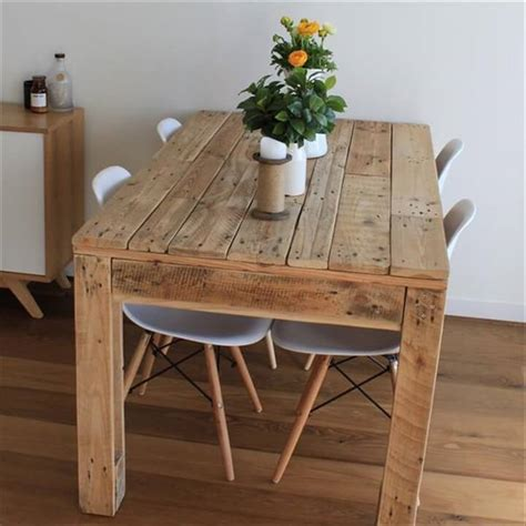 recycled pallet dining table 58 diy pallet dining tables diy to