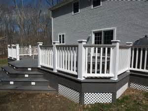 deck colors for grey house white and gray wood porch composite decks tub decks