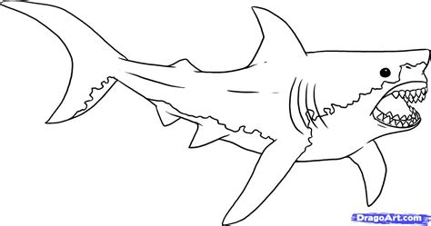 cool coloring pages of sharks how to draw jaws step by step movies pop culture free