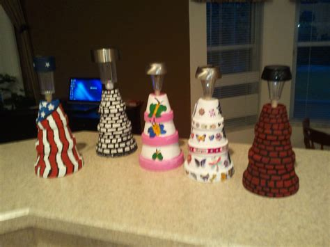 Small Terracotta Pots Mini Clay Pot Lighthouses Craft Ideas Clay