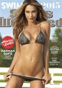 hannah davis is the 2015 si swimsuit issue cover