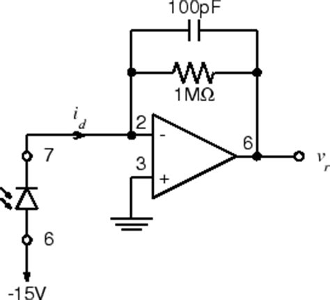 photodiode lifier capacitor elec 241 lab the receiver
