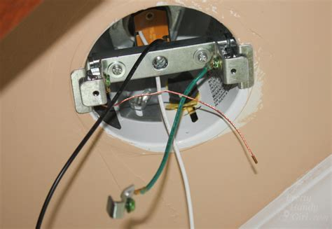 Light Fixture No Ground Wire Convert A Recessed Light To Accept A Hardwire Fixture Pretty Handy