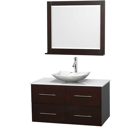 42 bathroom vanities wyndham collection wcvw00942seswsgs6m36 centra 42 inch