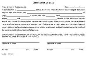 bill of sale template colorado free colorado vehicle bill of sale form 2 pdf template