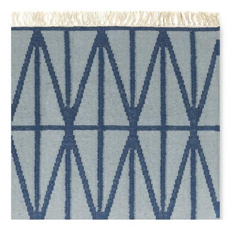 arrow rug arrow flatweave rug blue williams sonoma