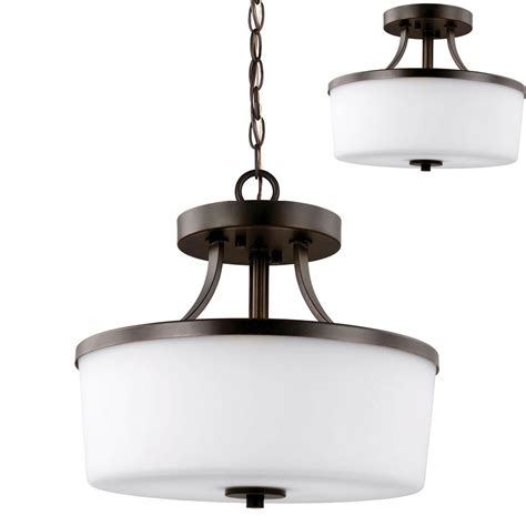 Drop Ceiling Light Fixtures Seagull 7739102en 710 Hettinger Modern Burnt Led Drop Lighting Fixture Ceiling Light