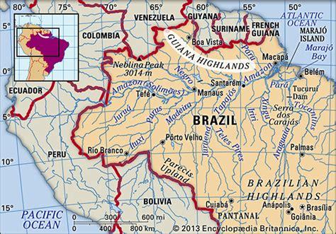 south america guiana highlands map guiana highlands region south america britannica