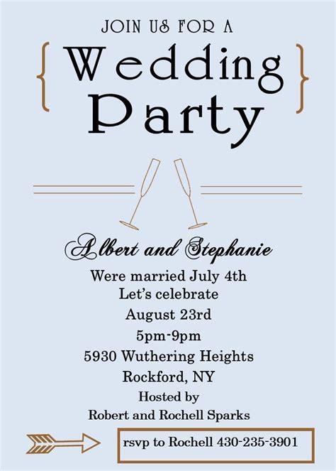Wedding Celebration Invitations