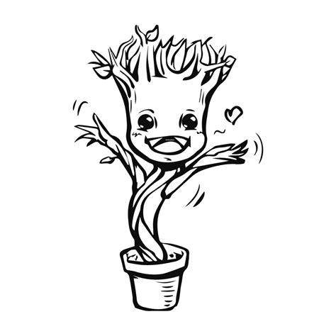coloring page baby groot t shirts groot teepublic