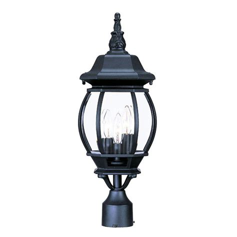 Acclaim Lighting Somerset 1 Light Matte Black Outdoor Post Outdoor Light Fixtures Home Depot