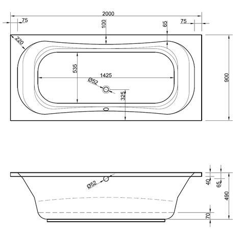 Badewanne 200 X 90 badewanne 200 x 90 x 49 cm badewanne badewanne rechteck