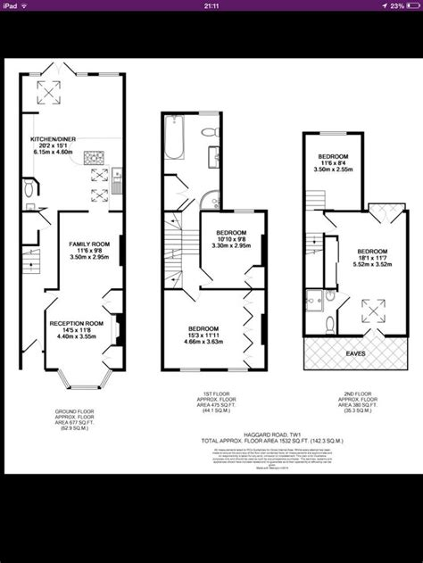 terraced house loft conversion floor plan victorian terrace with loft and and back extension floor
