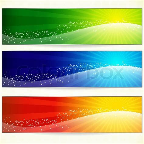 design your header abstract trendy colorful banners for your design header