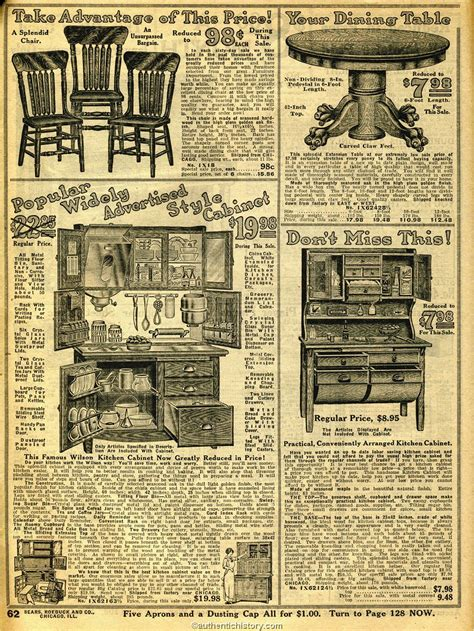 Early American Dining Room Furniture by 1914 Sears Household Catalog Kitchen Furniture Early