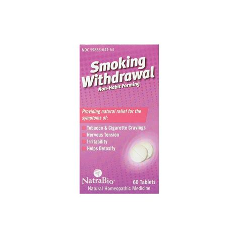 Tobacco Detox Homeopathic by Withdrawal Nonhabit Forming 60 Tabs