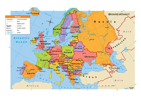 large map of europe only europe political map map tools