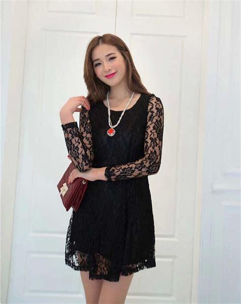 Brukat 2 In 1 Import dress brukat hitam terbaru model terbaru jual murah