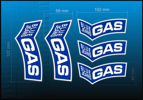 Gasgas Aufkleber Set by Classic Blue Jeans Gas Decal Kit Sticker Aufkleber