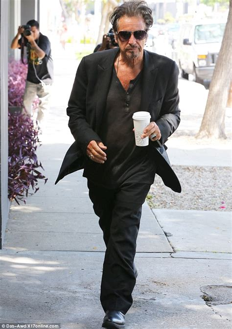 alabama the he al pacino wears an all black ensemble while on his way to
