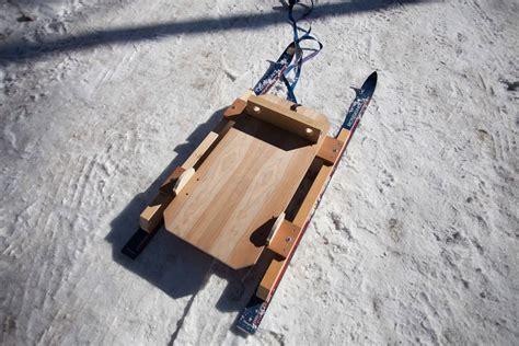 diy snow sled baby sled shackvalley david e