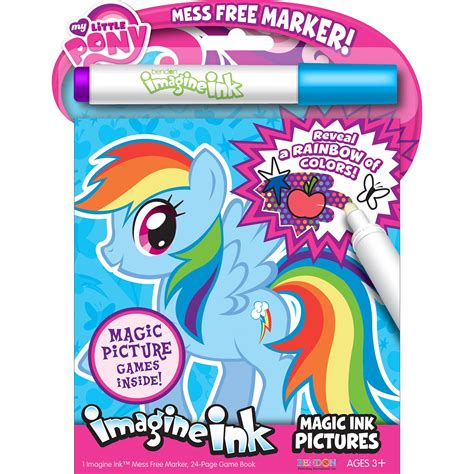 magic ink coloring books my pony imagine magic ink book marker rainbow