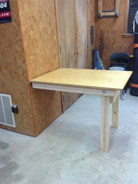 homemade work bench diy fold down workbench