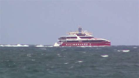 v boat kilimanjaro v catamaran ferry youtube