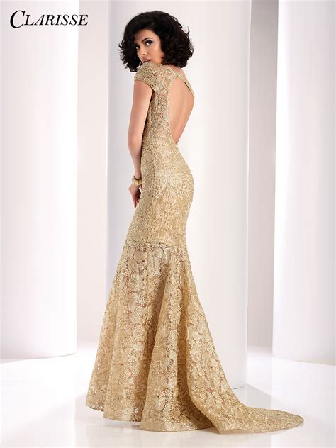 Lace Mermaid Evening Gown clarisse prom dress 4850 promgirl net
