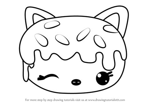sprinkle donut coloring page learn how to draw sprinkles donut from num noms num noms