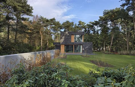 forest house modern forest house finished with stone bosvilla soest