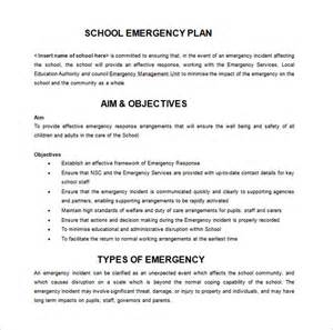 14 emergency plan templates free sle exle