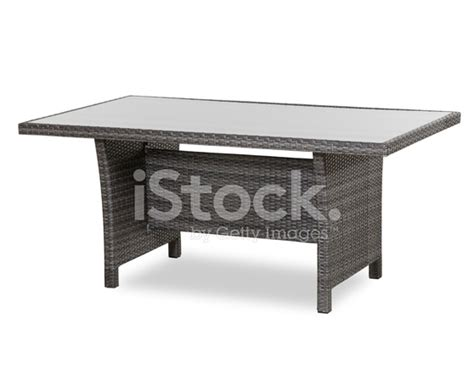 patio table glass top patio glass top wicker dining table stock photos