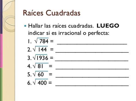 raiz cuadrada de 68 raices cuadradas y cubicas