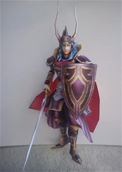 Papercraft Costume - dissidia warrior of light papercraft alt costume