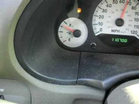 gas gauge problems 2005 dodge caravan youtube