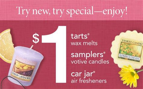 yankee candle printable coupons canada yankee canadle 1 car jars slers and tarts canadian