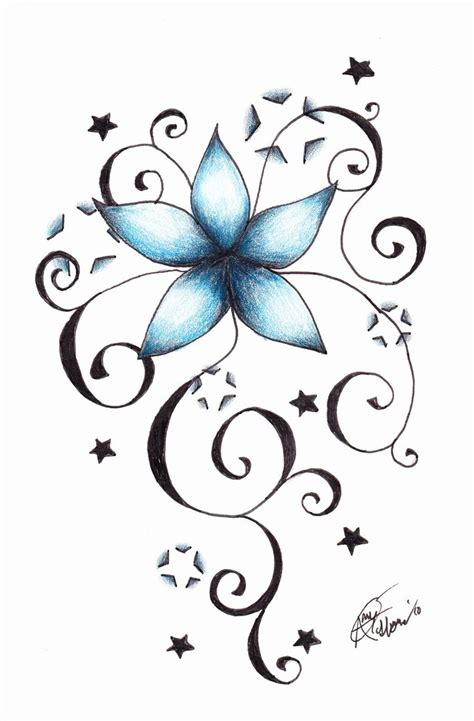flower and star tattoo designs vine pictures to pin on page 2