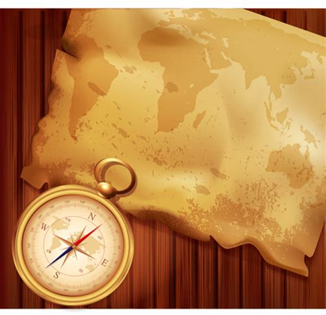 powerpoint design old old map and compass backgrounds 03 vector business free