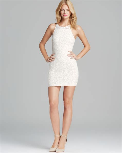 Dress Slim lyst dress nolton shattered lace slim in white