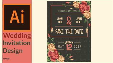 illustrator tutorial wedding invitation modern wedding invitation designing in adobe illustrator