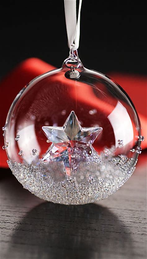 swarovski annual edition christmas ball ornament