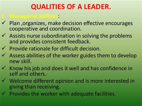 What Leadership Qualities Does Mba Provide by Seminar On Leadership Styles And Its Function In Nursing