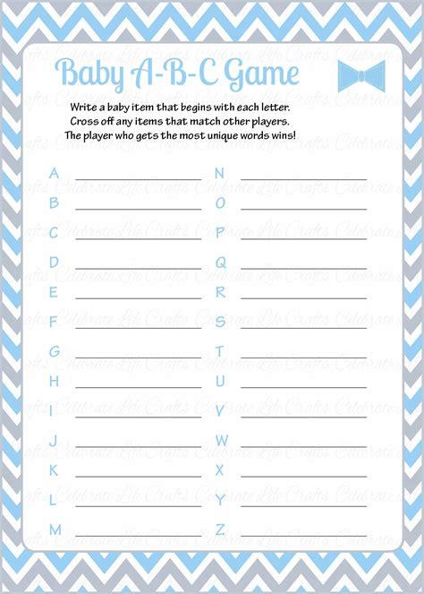 Baby Shower Alphabet Answers by Baby Shower Alphabet Wedding