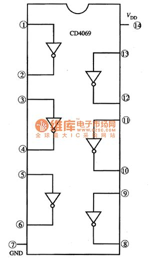 integrated circuit or gate cd4069 six not gates integrated circuit lifier circuit circuit diagram seekic
